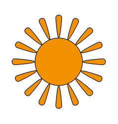 Sun cartoon icon image vector