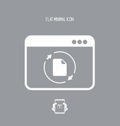 Synchronize documents application - flat minimal vector