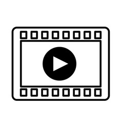 Tape record isolated icon vector
