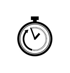 Time limit icon in flat style speed symbol vector