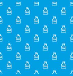 toxin bottle pattern seamless blue vector image