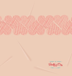 Valentine love hearts retro background vector