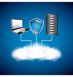 Web Hosting icon Technology design vector image