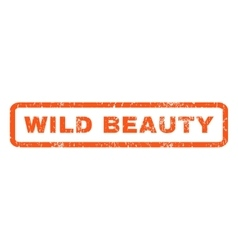 Wild Beauty Rubber Stamp vector