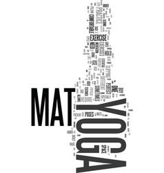 Yoga mat text word cloud concept vector