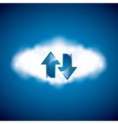 Cloud computing icon Technology design vector image