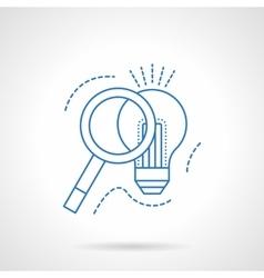 Idea search blue flat line icon vector image vector image