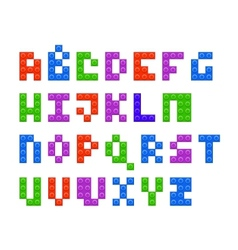 Plastic constructor alphabet vector image