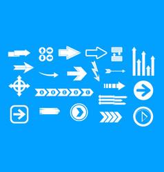 arrow icon blue set vector image