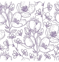 beautiful seamless flowers vector image