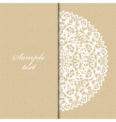 beige background with napkin vector image vector image