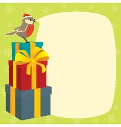 birdy wishes merry christmas vector image vector image