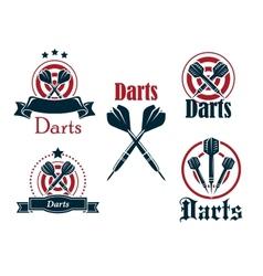 Darts icons emblems or symbols vector image vector image