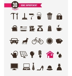 Home - icon set vector image