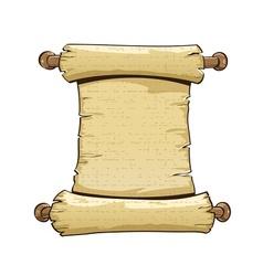 vintage paper scroll vector image vector image