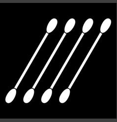 cotton swabs white color icon vector image