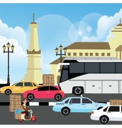 holiday vacation traffic jam congestion vector image vector image
