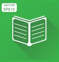 open book icon business concept study book vector image