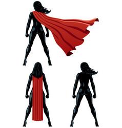 super heroine back vector image vector image