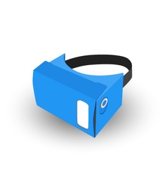 technology virtual reality icon flat vector image