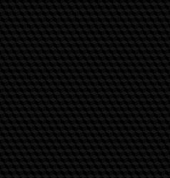 Black hexagon texture seamless background vector image vector image