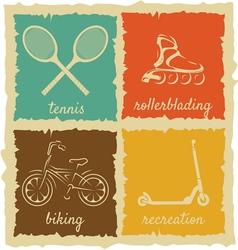 Set of Vintage Sport Labels vector image vector image