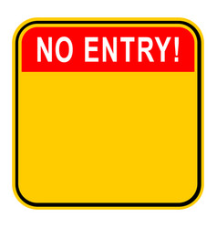 sticker no entry safety sign vector image vector image