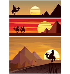The Pyramids vector image vector image