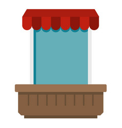 Window with canopy icon isolated vector