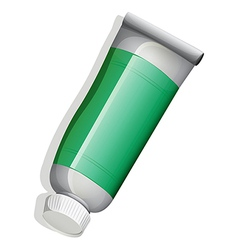 A topview of a green medicinal tube vector
