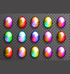 abstract colorful easter eggs multicolor vector image
