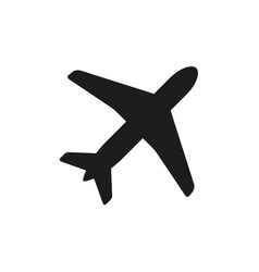 airplane aviation flat icon for apps and websites vector image