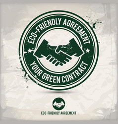 alternative eco friendly agreement stamp vector image
