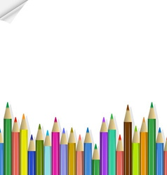 Background with colored pencils vector