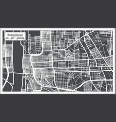 Baton rouge louisiana usa city map in retro style vector
