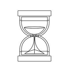 black silhouette with sand clock vector image