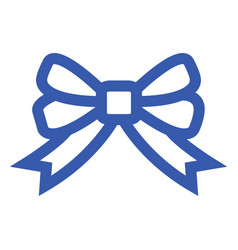 blue ribbon icon vector image