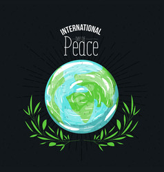 Brown poster with sparks and earth world map vector