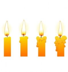 candles on white vector image