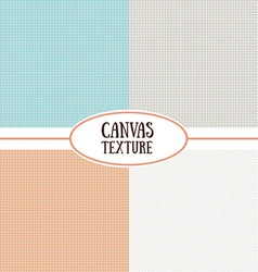 Canvas texture Set of seamless background Natural vector