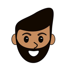 cartoon head face man male design vector image