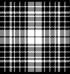 Check black white plaid seamless pattern vector