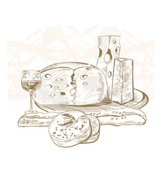 Cheeses vector