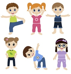 Children sport vector image