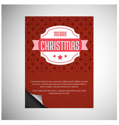 christmas card with typographic vector image