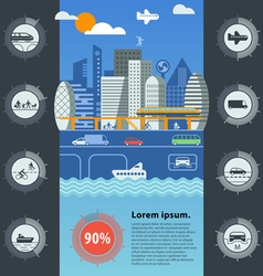 City traffic vector image