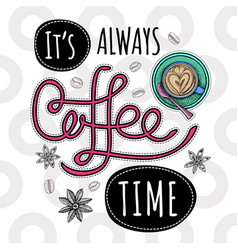 coffee trendy vector image