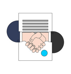 contract and handshake sign signed vector image