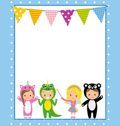 Costume party poster vector