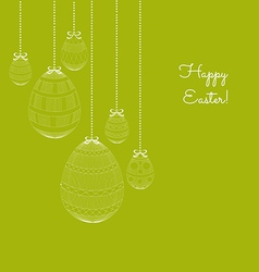 Easter eggs in doodle background vector image